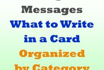 Messages for cards