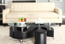 Modern Glass Table Living Room Black Furniture 2 Stools Christmas Xmas Gift Home