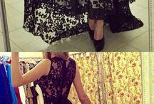 Lace evening dresses