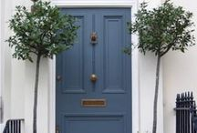 Doors / Petrol blue doors