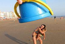 beach fun photography