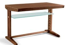 WRITING DESK / Wooden writing desk for your home. All pieces are made in walnut with natural finishing
