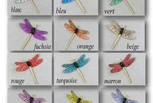 LIBELLULES LOISIRS CREATIFS / libellules  soie sur polyphane, transparentes sur polyester, corps de perles et métal pour vos loisirs créatifs disponibles en boutique www.magicreation.fr