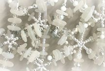 Sea Glass Snowflakes by Sea Glass Visions