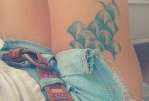 Body art leg
