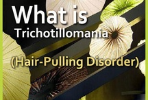 Trichotillomania / Board providing informations about symptoms, causes and treatments of hair pulling disorder.
