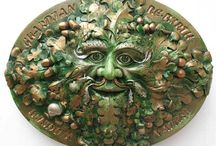 """Green Man / Here are a selection of some of my hand made sculptures. Lovingly made in my studio in wales from my marble mix. My website is www.spiritofthegreenman.com  where I am able to ship within the U.K. at a reasonable price.  My environmental Facebook page is to be found under """"Spirit of the green man"""""""