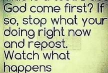 Reposting this / I think God comes first
