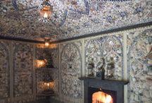 Интерьер комнаты из ракушек