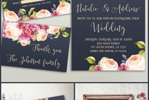 Wedding invites floral