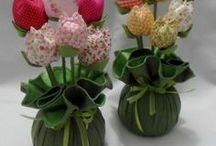 fiori in stoffa - feltro - carta