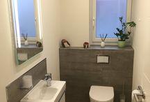 Gäste-WC teilgefliest