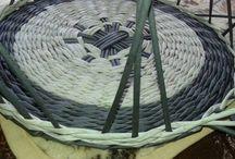 Pletení z papíru - různé