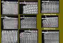 Krokning/ Afghan stitch