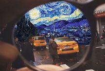 van gogh collage