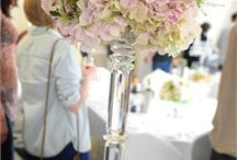 Table centre pieces / Inspiration for wedding table centre pieces that add height and drama - oh, just go for it!