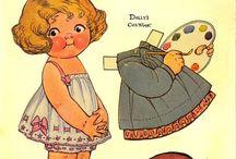papierové bábiky obliekacie