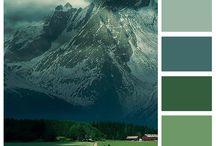 Blue Grey green
