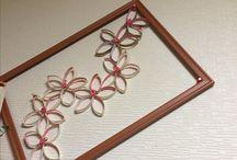 Diy toilet paper roll / Toilet paper roll framed sakura flower 3d effect