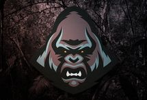 Logo Gorille / Gorille, Gorilla | Illustration, Logo, Dessin