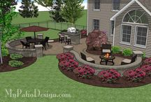Landscape front house