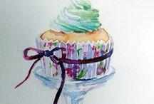 cupcakes + macarons