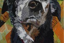 Animal art quilt/thread painting