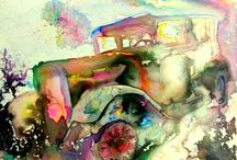 Aphrodite's artwork 2014-.... / colorful vehicles, butterflies and mystery lanscapes compose my life the last two years!!!!