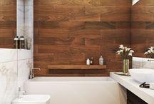 dom_drewno w łazience