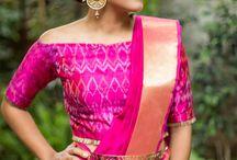 silk saree blouse option