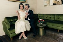 """Wedding Inspiration : Fifties Style / A 50s styled editorial, inspired by TV's """"Mad Men""""."""