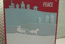 Stampin' Up! Sleigh Ride Edgelits / Projects created using the Stampin' Up! Sleigh Ride Edgeless Dies 139670