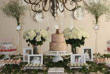 decoraçao da mesa do bolo