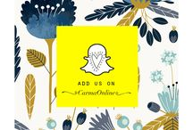 Carma Online #Snapchat / Follow us on #Snapchat for daily fashion dose!!  Add us on- carmaonline