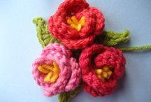 Crochet flowers and embellishments