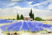 Lavendel schilderen