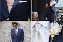 The Suit / Navy or Grey Suit Jacket Salmon or Light Pink / Red / Maroon compliments