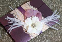 lace wedding card