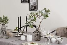 Inside dining table decor