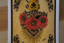 sagrado corazon tatuaje