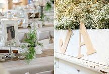 Dekoracje na ślubny stół