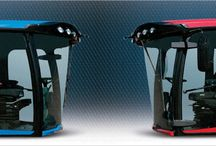 Cabs with LINDAR plastic components / Assemblies LINDAR manufactures