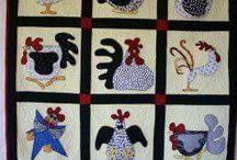 Quilt Blocks----Chickens