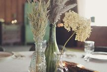 wedding flowers inspirations / Lavender & Baby's Breath & Field flowers