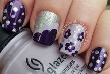 Nail Colours/Designs / Nail colours and design pins.