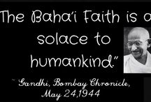 Bahai Faith: Connecting through thought and spirit all across the world. The highest time, if we want to survive. / I personally have not found one belief in the Bahai Faith that could hurt anyone. Bahai Prayers are filled with such purity and deepest love for God. The Bahai Faith is all about bringing religions, races and countries together in peace. Humanity cannot be separate any longer if we wish to progress spiritually and create world peace. It is time we all embraced each other as children of God and to show our love to God. Love is always the answer. Mahatma Ghandi.