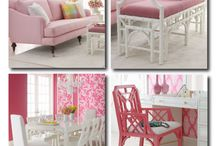 The Orchard: Pretty in Pink: Shabby Chic Vintage / Pink Interiors/Decor - Pretty and pink but not always girly, depending how you add it!