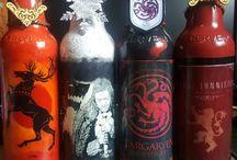 garrafas decoradas game of thrones feitas à mão!!