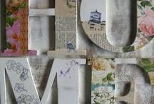 Porcelana y Letras Decoradas