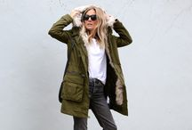 Camo jackets & trainers